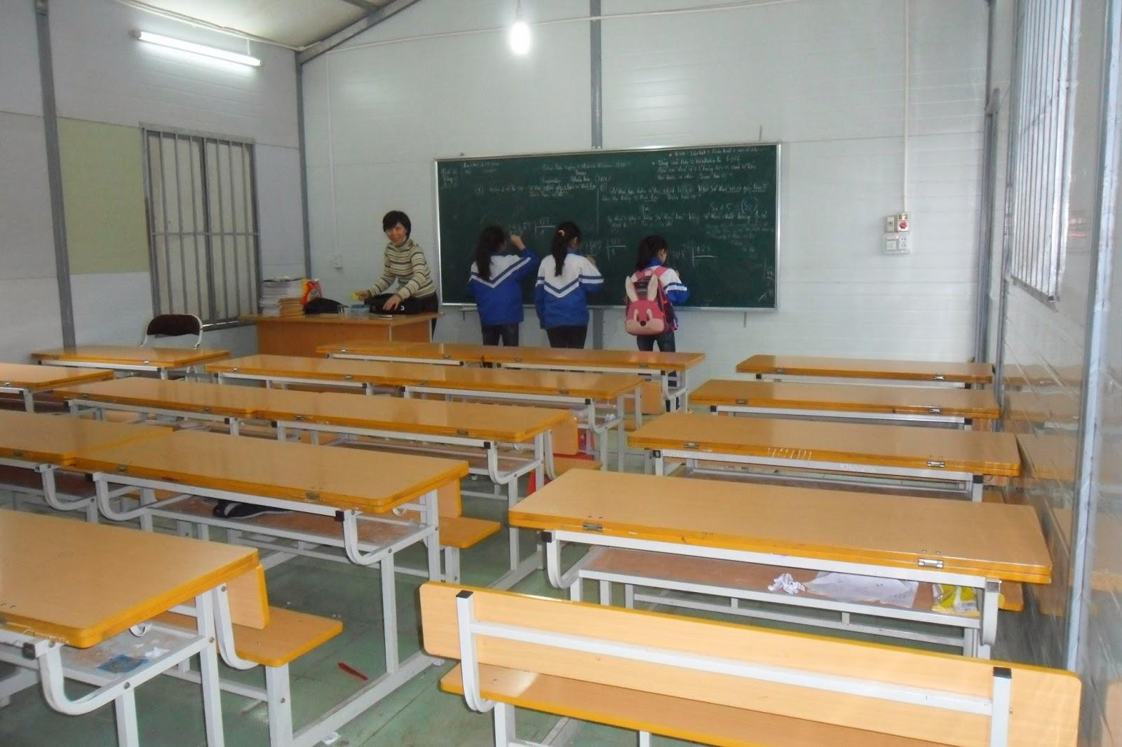 nhà lắp ghép trường học