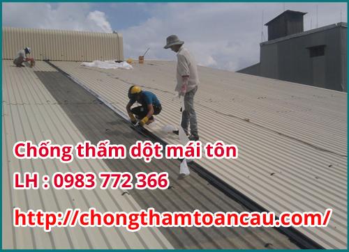 chống thấm dột mái tôn