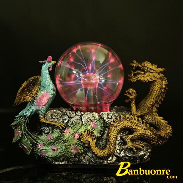 quả cầu plasma với thiết kế hình rồng phượng