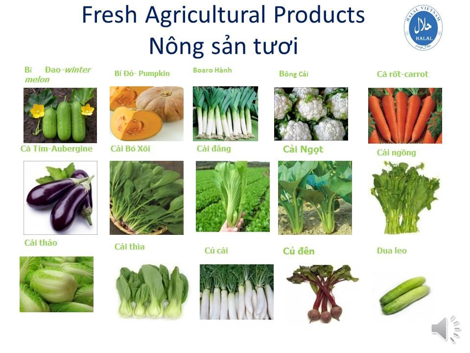 Fresh Agricultural Products - Nông sản tươi