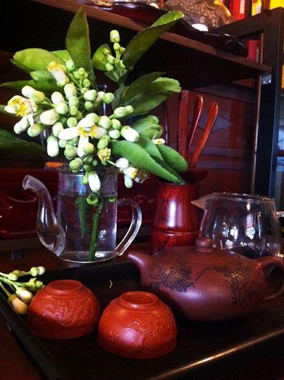 trà ướp hoa bưởi
