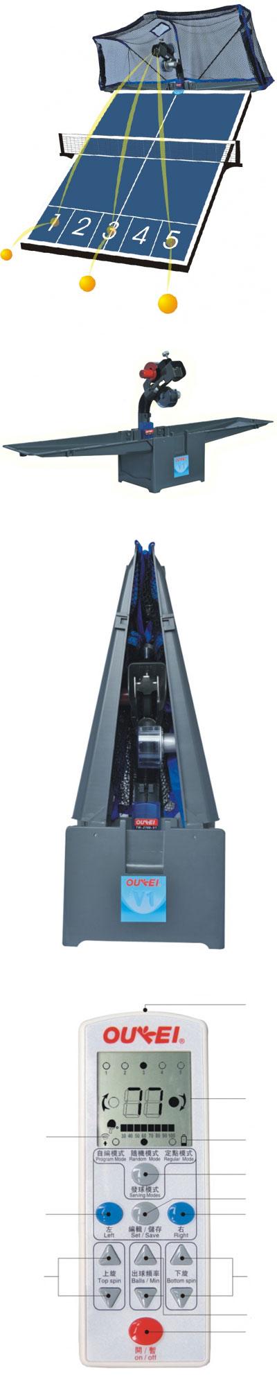 Máy bắn bóng bàn Oukei TW-2700-V1