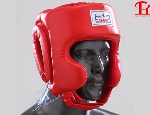 Mũ võ thuật Kangrui KB501 đỏ