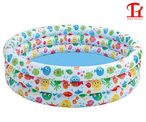 bể bơi phao 3 tầng cá 1m68 Intex 56440