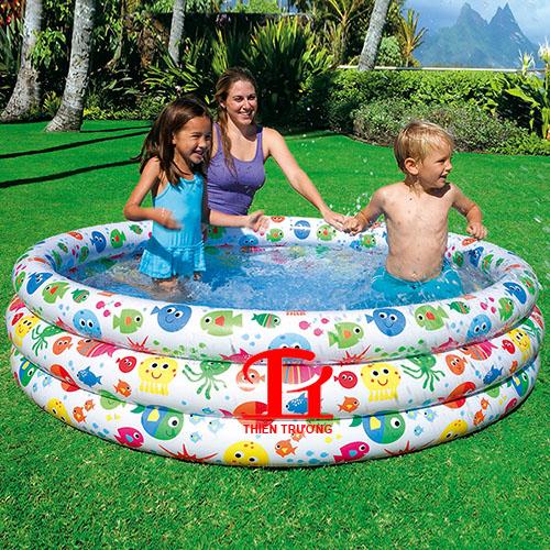 Bể bơi phao Intex 56440 3 tầng 1m68