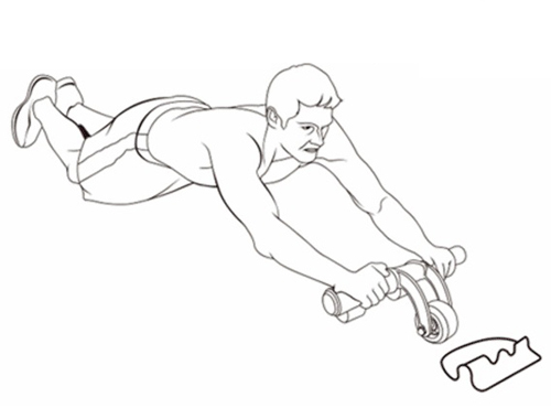 Sử dụng bánh xe tâp cơ bụng AB Slimmer