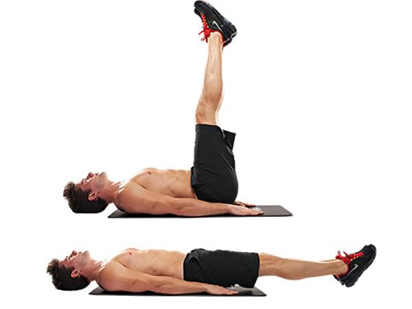 Nằm nhấc chân giảm mỡ bụng dưới