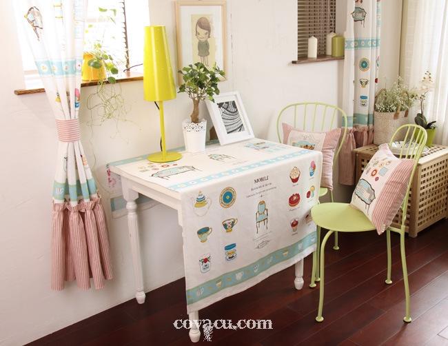 Vải may khăn bàn