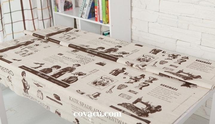 Vải trang trí khăn trải bàn vintage