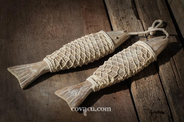 Cá gỗ trang trí