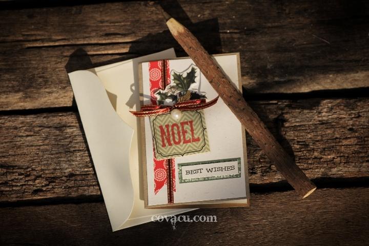 Thiệp Noel Handmade nhỏ - Best Wishes
