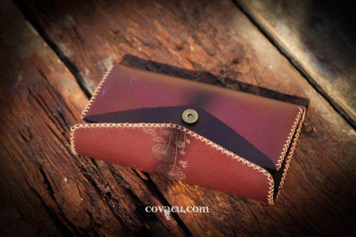 Bóp da nữ handmade