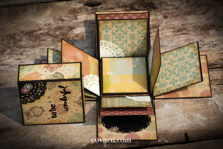Box album - scrapbook handmade