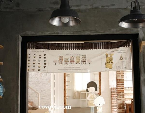Vải trang trí quán cafe