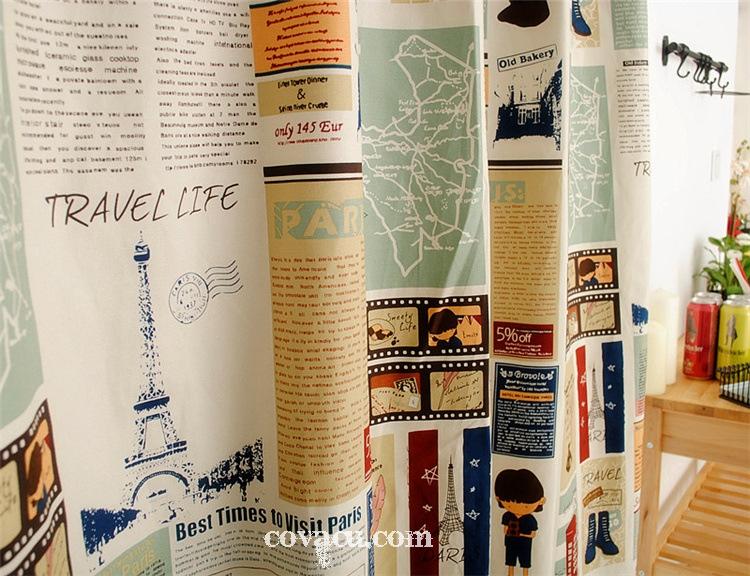 Vải may rèm cửa trang trí nhà phong cách vintage vietgiftcenter.com