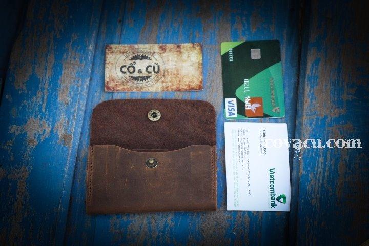 ví da đựng card visit