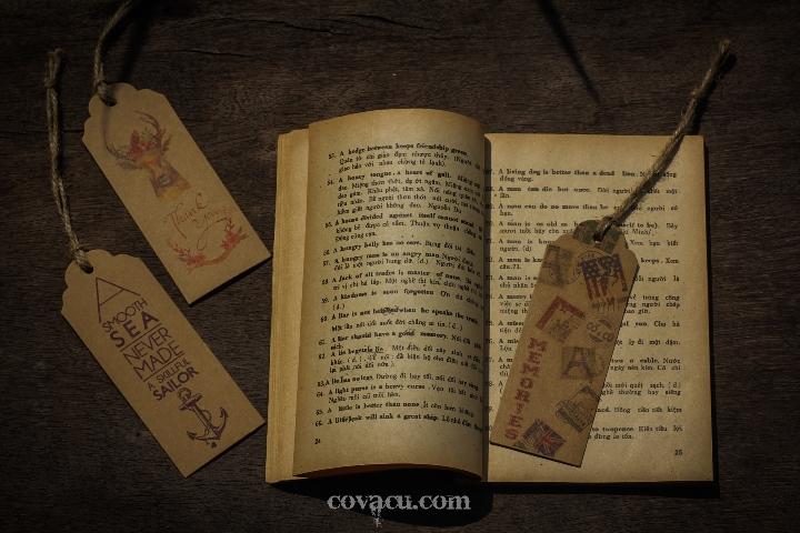 Đánh dấu trang sách handmade