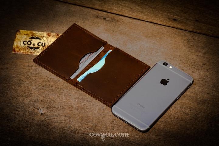 Ví da handmade đựng card