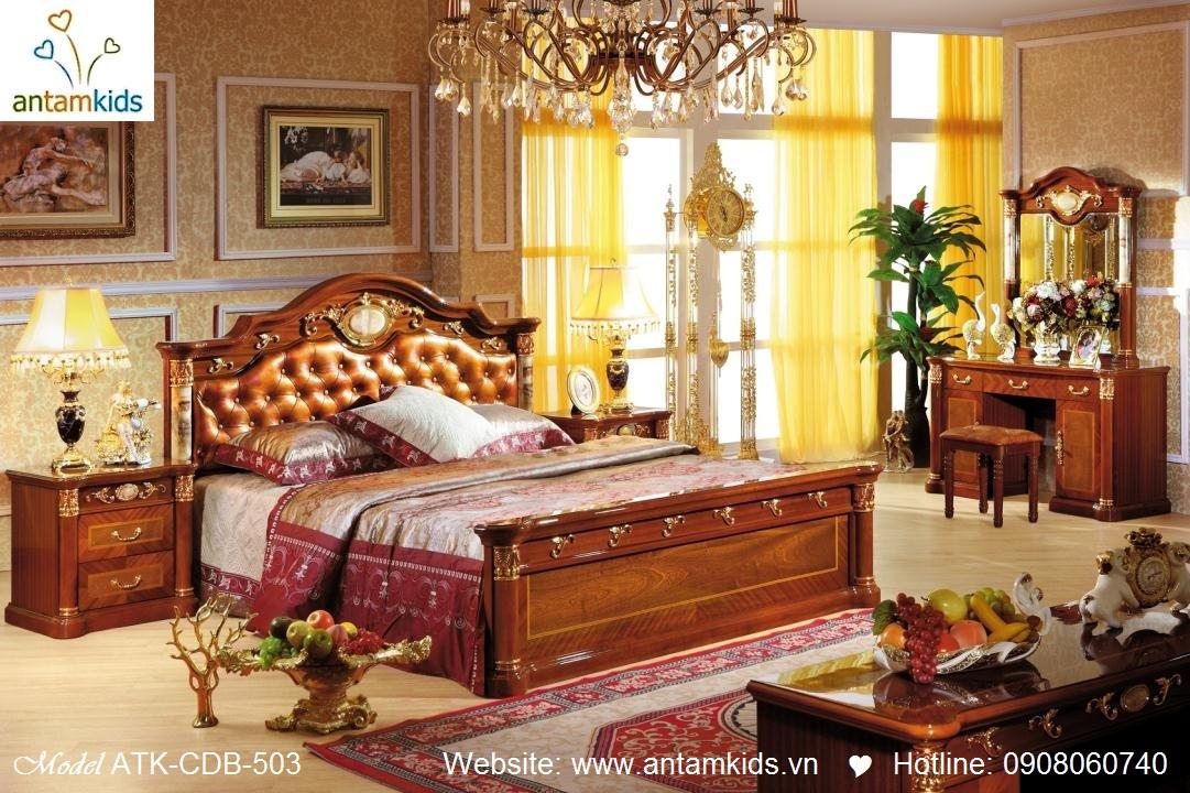 Nội thất cổ điển cao cấp nhập khẩu, Nội thất phong cách châu Âu cổ điển siêu đẹp, giuong ngu co dien AnTamKids.vn