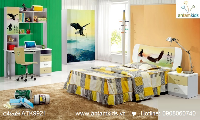 Phòng ngủ trẻ em 3D hoạt hình  cho bé trai | AnTamKids.vn