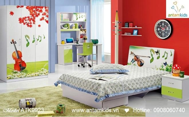 Phòng ngủ trẻ em 3D cây đàn nghệ sĩ cho bé trai bé gái | AnTamKids.vn