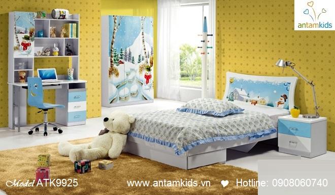 Phòng ngủ trẻ em 3D Noel cho bé trai bé gái | AnTamKids.vn