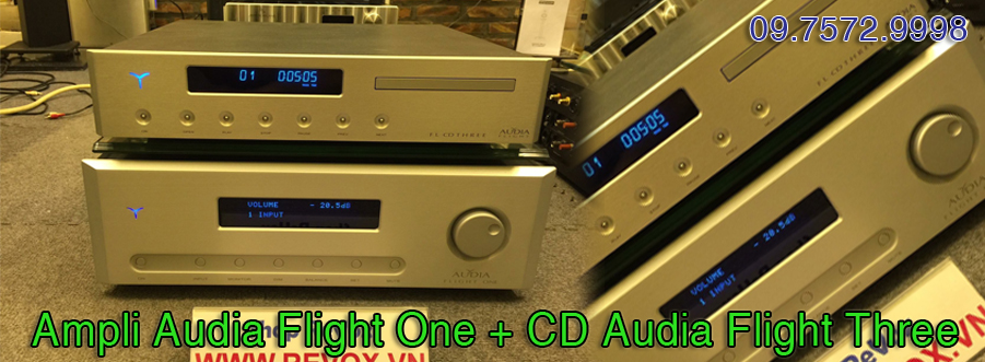 Ampli Audia Flight One + CD Audia Flight Three