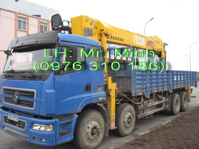 Xe tải gắn cẩu 10 tấn Soosan