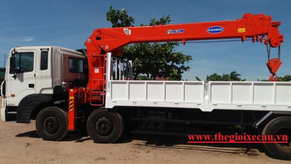Xe tải gắn cẩu 10 tấn Kanglim