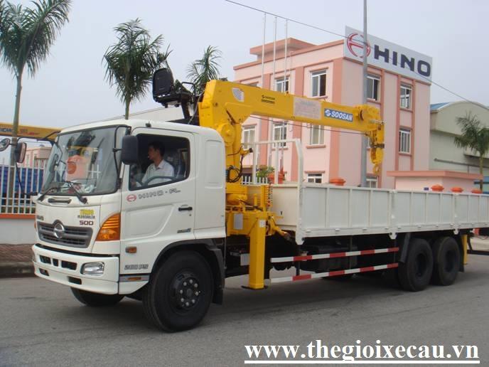 Xe tải gắn cẩu 7 tấn- Hino FL- Soosan SCS746L