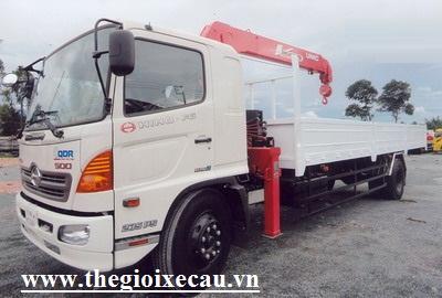 Xe tải Hino FG8JPSL gắn cẩu Unic 3 tấn 4 đốt Ur-v504