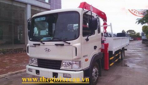 Xe tải Hyundai HD210 gắn cẩu Unic 3 tấn 4 đốt UR-V344