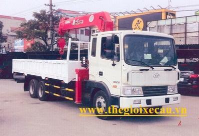 Xe tải Hyundai HD210 gắn cẩu Unic 4 tấn 6 đốt Urv546