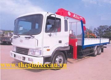 Xe tải Hyundai HD210 gắn cẩu Unic 4 tấn 4 đốt UR-V544