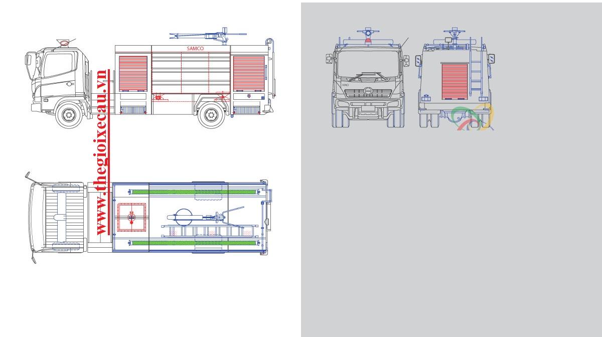 Xe cứu hỏa Hino FC9JJSW