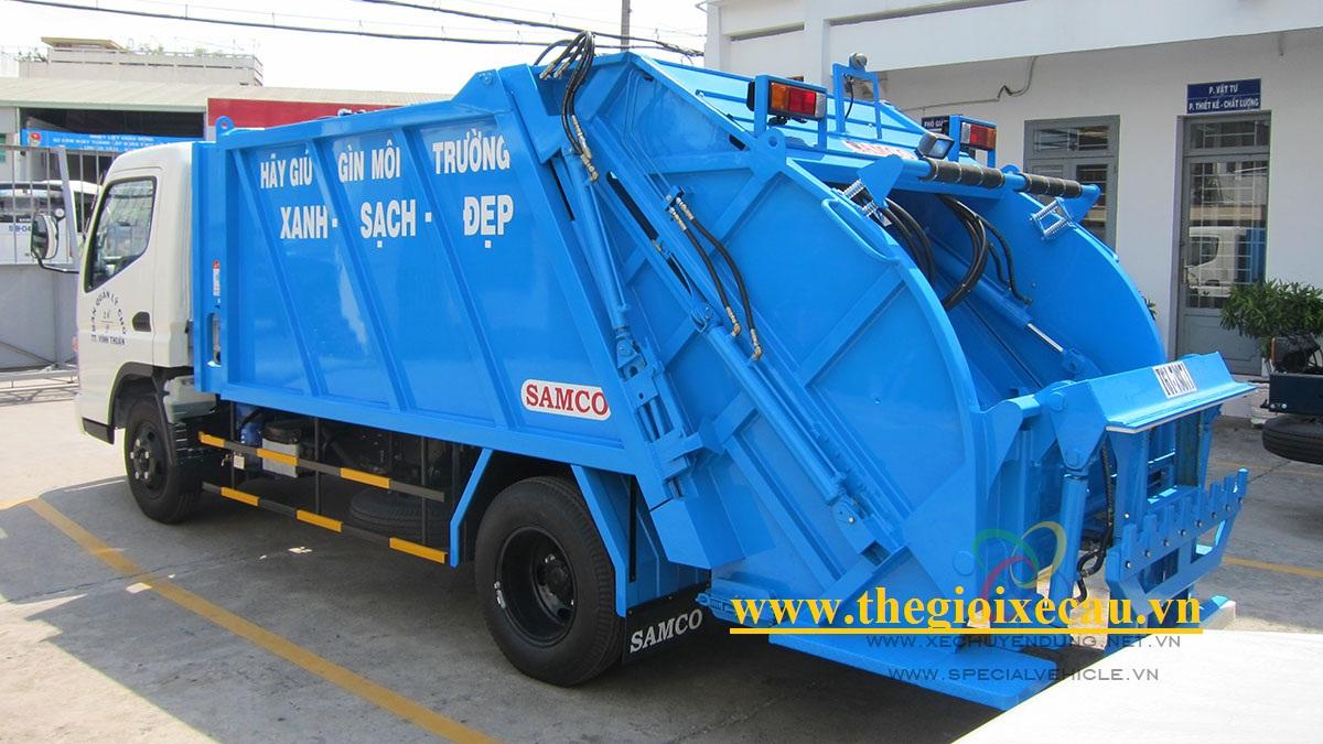 Xe ép rác từ 5 đến 20 khối