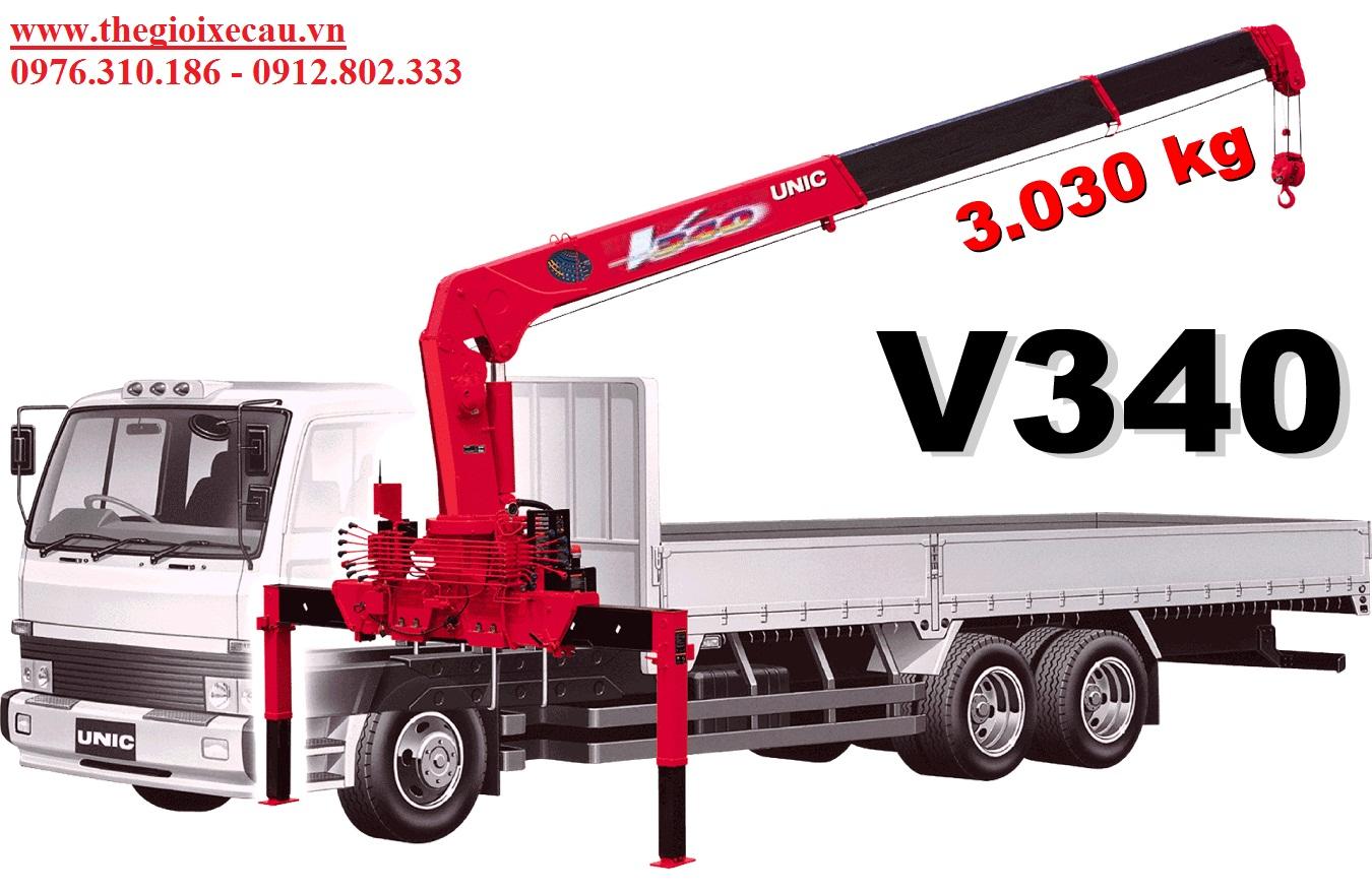 Xe tải gắn cẩu UNIC 3 tấn