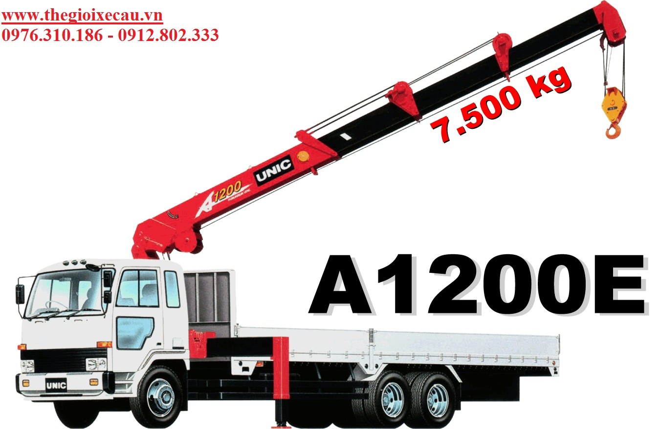 Xe tải gắn cẩu 7.5 tấn UNIC