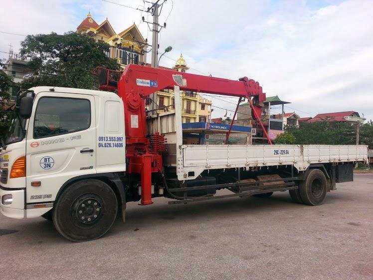 Cho thuê xe tải gắn cẩu từ 3 đến 20 tấn