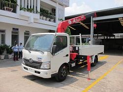 Xe tải cẩu Hino XZU720- Unic 340