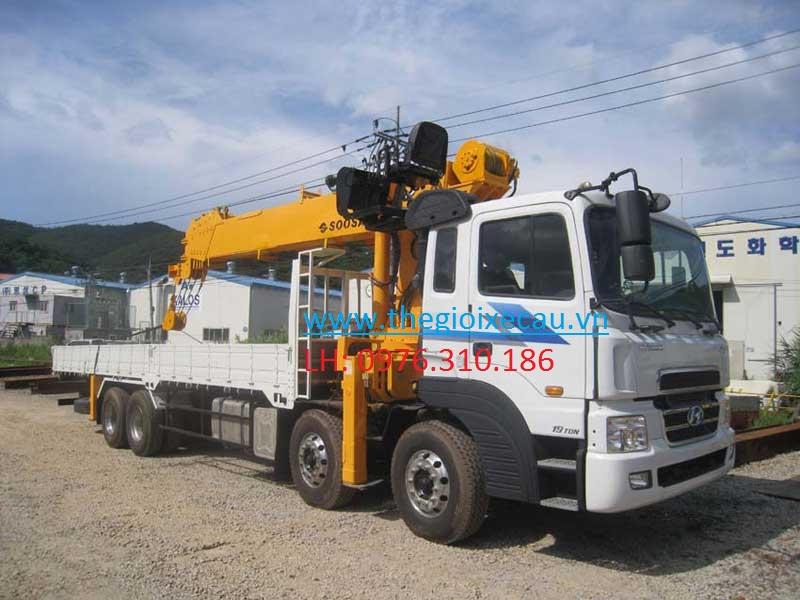 Xe tải Hyundai HD320 gắn cẩu Soosan 10 tấn SCS1015LS