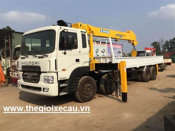 Xe cẩu tự hành 10 tấn HD320-Soosan 10 tấn