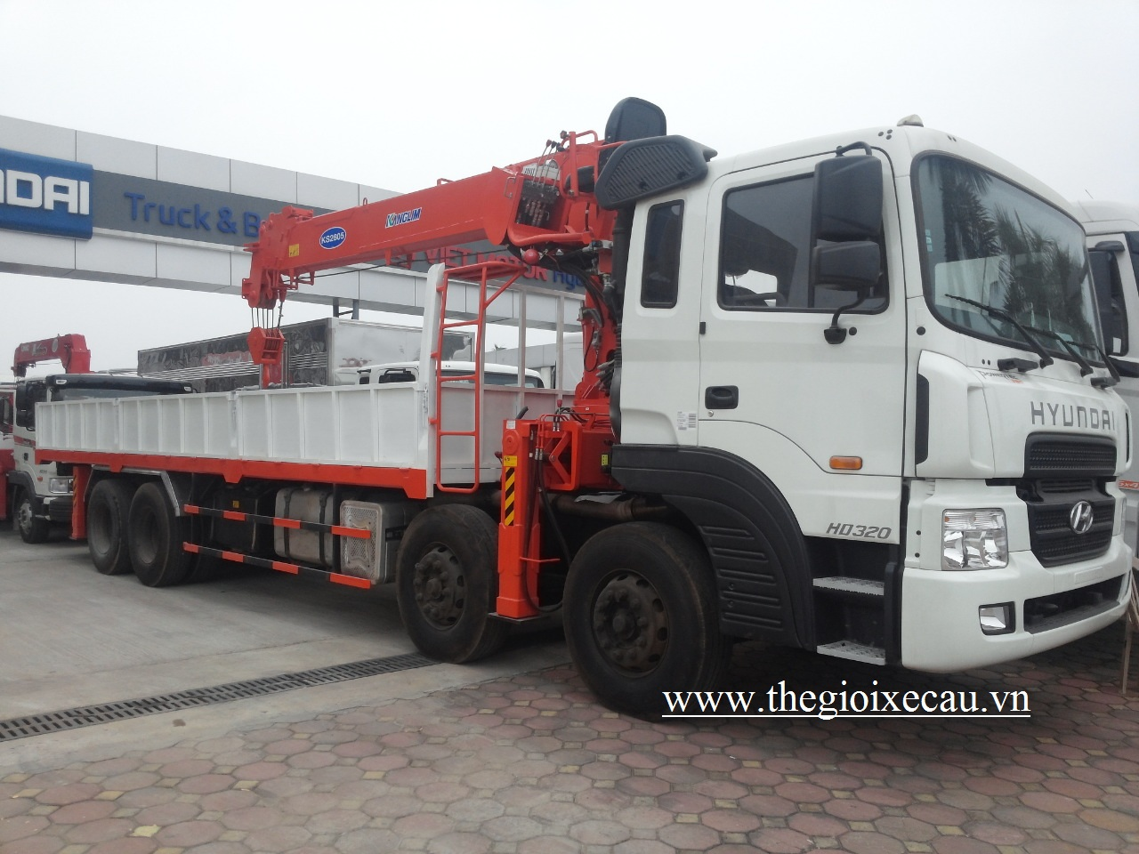 Xe tải Hyundai gắn cẩu Kanglim