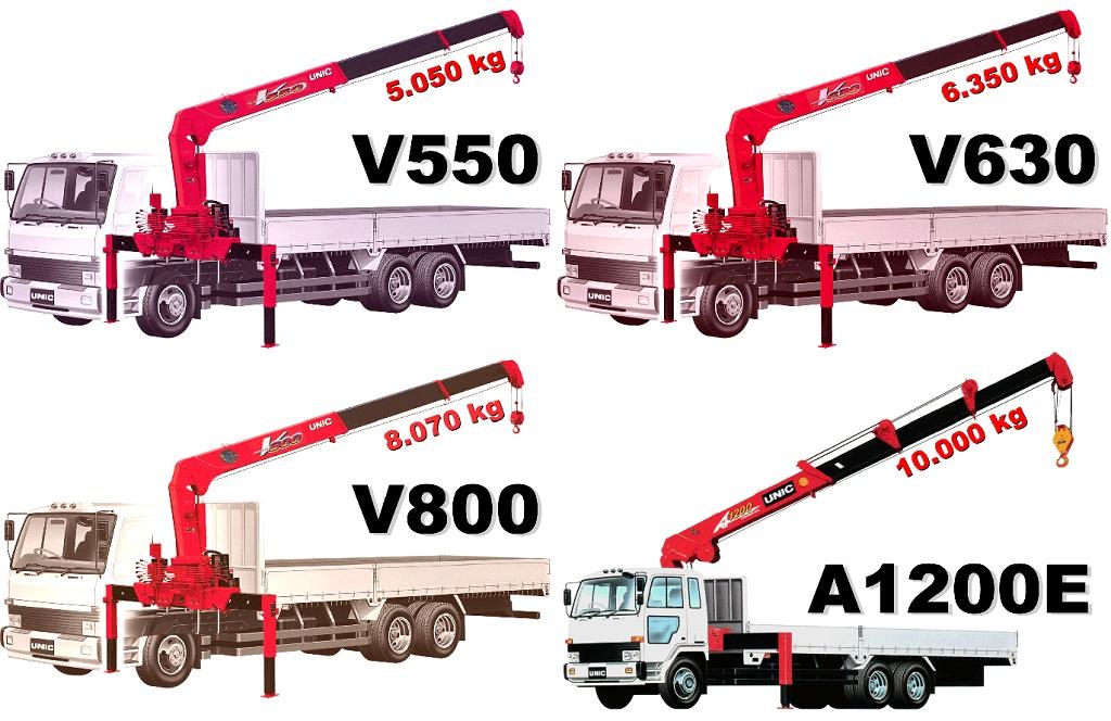 Cung cấp xe tải gắn cẩu Unic UR-V550, UR-V630, UR-V800 và UR-V1200