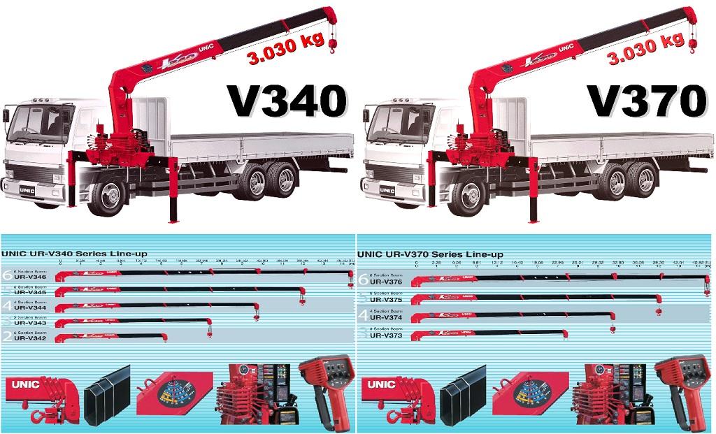 Cung cấp xe tải gắn cẩu Unic UR-V340 và UR-V370 lắp trên tải trung
