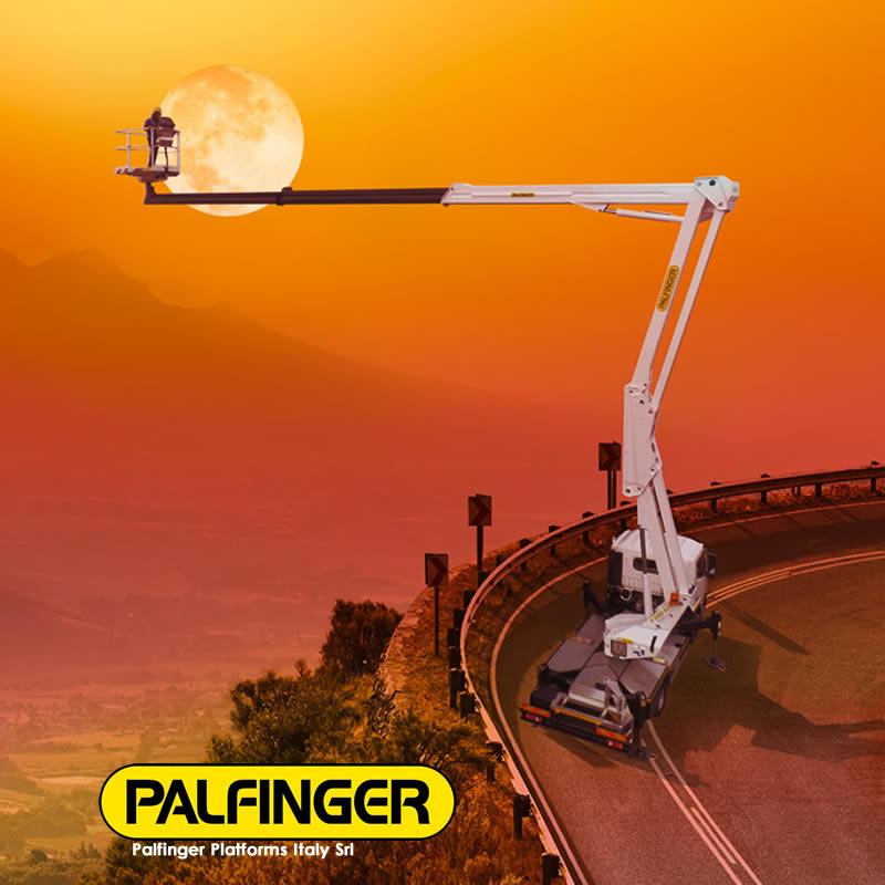 Xe ô tô thang nâng người Palfinger