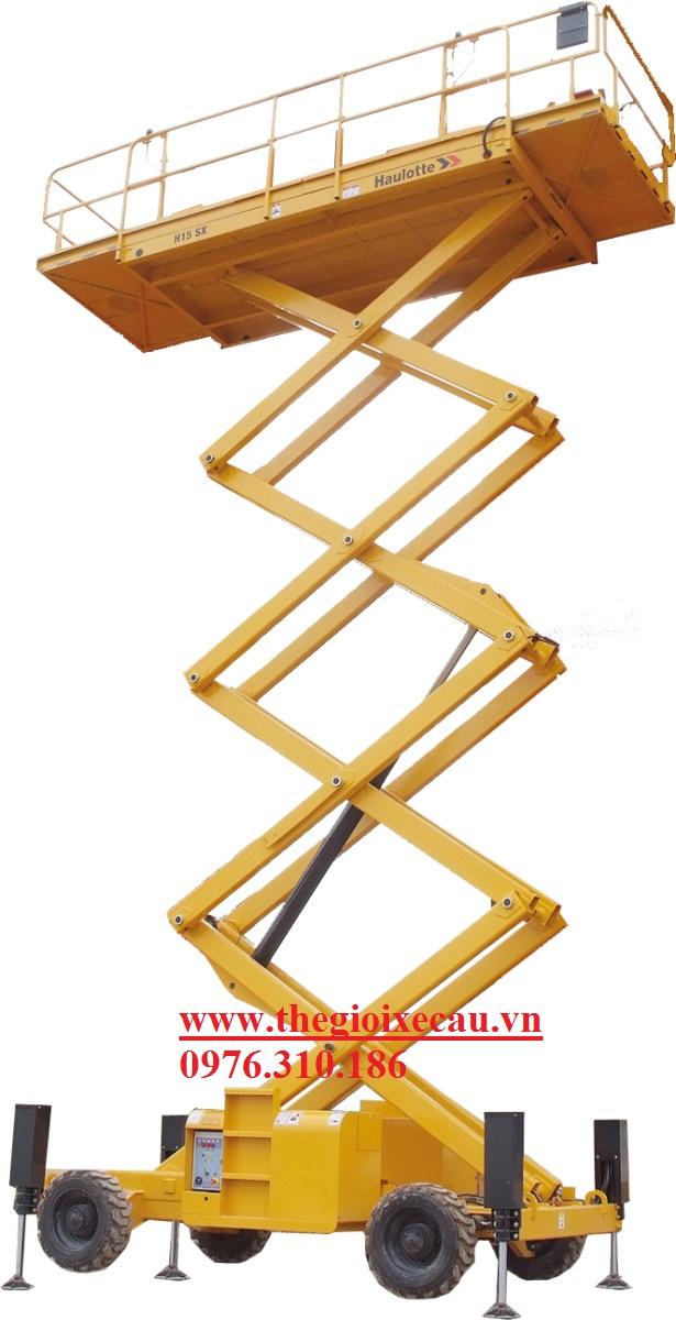 Xe thang nâng cắt kéo Haulotte