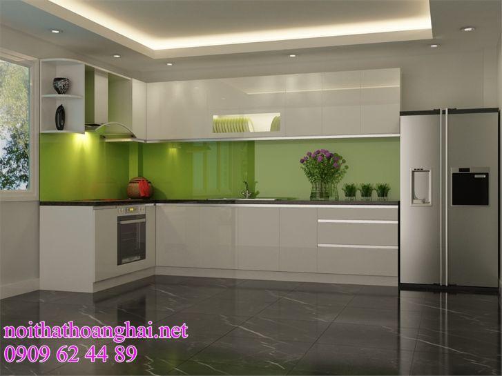 mẫu tủ bếp acrylic đẹp