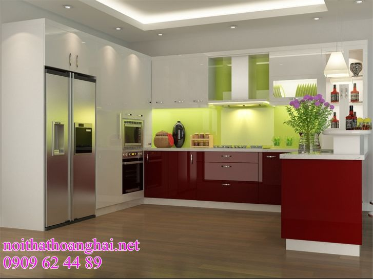 tủ bếp acrylic giá rẻ tại hà nội