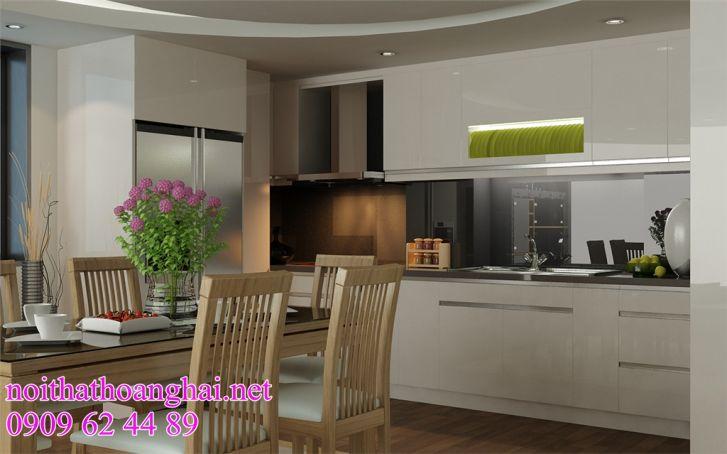 tủ  bếp acrylic tại hà nội